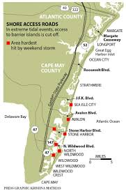 Map Of New Jersey Shore Being Marooned During Storms Part Of Barrier Island Life Lower
