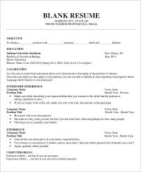 blank resume format for job application template fresher free word