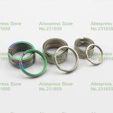 titanium key rings images Free shipping lot titanium ti key chain split ring 32mm 31mm 25mm jpg