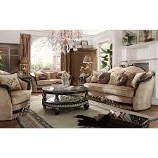 136 homey design traditional sofa set