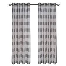Grey And White Curtain Panels Lavish Home Grey Sofia Grommet Curtain Panel 95 In Length 63