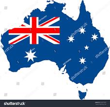 Ustralia Flag Australia Flag Map Stock Vector 523577557 Shutterstock