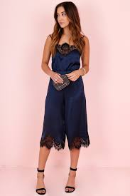 gaucho jumpsuit quincy lace jumpsuit navy
