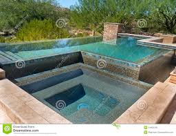 zero horizon modern swimming pool royalty free stock photos