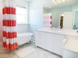 Shabby Chic Bathroom Furniture Bathroom Stylish Shabby Chic Bathroom In Coral Blue And White