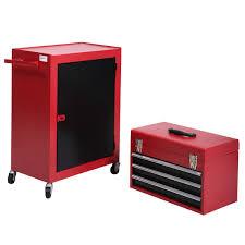 giantex 2pc mini tool chest u0026 cabinet storage box rolling garage
