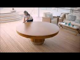 fold out coffee dining table expandable round dining table youtube