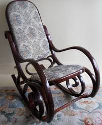 Rocking Chair Used Vintage Bentwood Rocking Chair With Padded Tapestry Seat In
