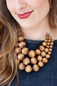 chunky beaded necklace images Chunky wooden bead statement necklace a beautiful mess