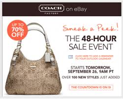 coach 48 hour sale event starts today at noon up to 70