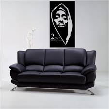 vinyl wall decal for home decor tupac style 2