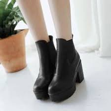 buy boots worldwide shipping buy vivier platform chunky heel ankle boots with free