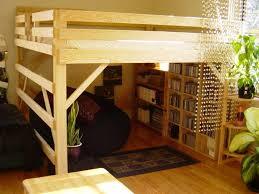 loft bed frame queen for mattress plans pcnielsen com