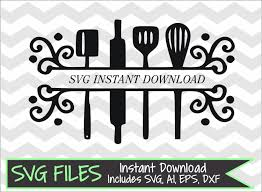 Kitchen Utensils Design by Split Kitchen Utensils Svg Dxf Eps Ai Cutting File For Silhouette