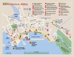 Maps Alaska by Sitka Alaska Convention U0026 Visitors Bureau Walking Map