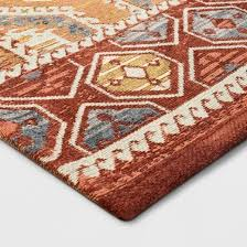 warm brown tapestry area rug threshold target