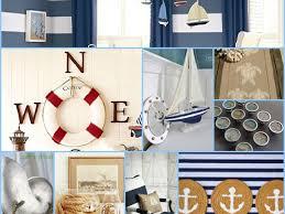 Photography Home Decor Interior Wonderful Nautical Themed Bedroom Stock Photography