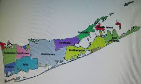 suffolk county map suffolk county map of municipalities of 6 of 8