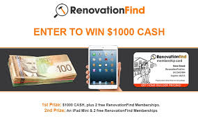 home show contest win 1000 renovationfind