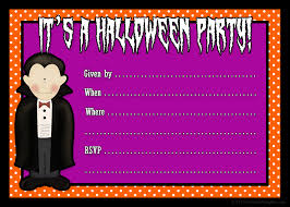 Party Invitation Cards Templates Free Printable Halloween Invitation Card Template With Blank Name