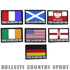 Country Flags Patches Cobra Rubber These Colour S Don U0027t Run Nation Airsoft Moral Patch Flash