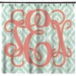 monogram shower curtain personalized potty training concepts