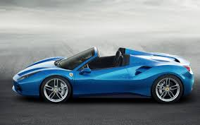 blue ferrari wallpaper ferrari 488 spider blue supercar side view 4k hd wallpaper 4k