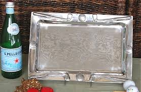 pewter serving platter golf serving on sports party world