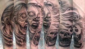 Off The Map Tattoo Death Biting Death By Stefano Alcantara Tattoos