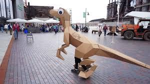 velociraptor costume kitrex googly eyed industrial origami laser cut velociraptor