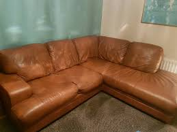 light brown leather corner sofa dfs tan leather corner couch settee sofa in widnes cheshire gumtree