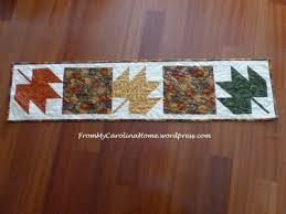 Leaf Table Runner Three Maple Leaves Table Runner Favequilts Com