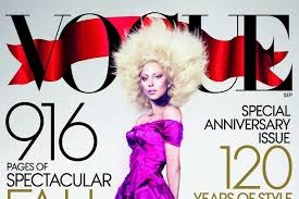 lady gaga u0027s september vogue cover claims that u0027hair is the new makeup u0027