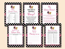 baby showergames minnie mouse baby shower magical printable