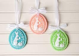 easter egg ornaments springerle easter egg ornaments using cold porcelain clay