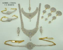 bridal set necklace earring images Diamond wedding jewellery sets diamond necklace n gopaldas jewellers jpg