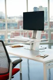 Adjustable Height Computer Desk Workstation by Humanscale U0027s Quickstand Workstation The Sit Stand Solution For