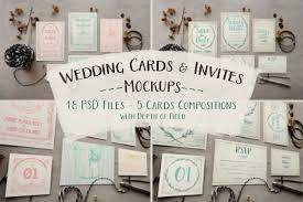 wedding invitation bundles rustic wedding invitation mockup by kla design bundles