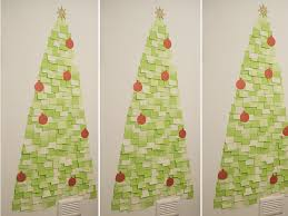 cheap christmas tree diy post it note christmas tree fashion styles