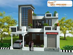 3 bedrooms duplex house design in 220m2 10m x 22m apnaghar