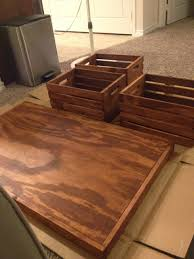Wine Crate Coffee Table Diy by Livingston Way Diy Wine Crate Coffee Table