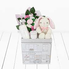 welcome baby hamper pink baby shower gifts babyblooms