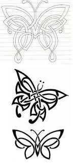 celtic butterfly tat i like the bottom one never ending