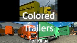 painted trailer pack for killua file euro truck simulator 2