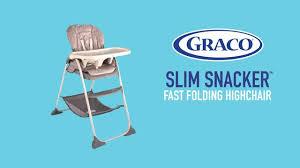 How To Fold A Graco High Chair Graco Slim Snacker Fast Folding U0026 Ultra Slim High Chair Whisk