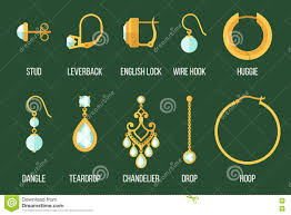 different types of earrings earring types stock vector image 79806897