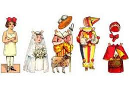 old fashioned classic paperdoll template set 2 free download