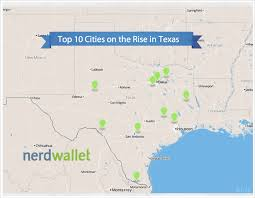 Map Of Dallas Suburbs by Cities On The Rise In Texas Nerdwallet