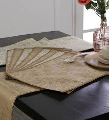 table runner placemat set buy cannigo charlotte fibre table runner with placemats set of 10