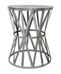 Metal Drum Accent Table Round Drum End Table Foter
